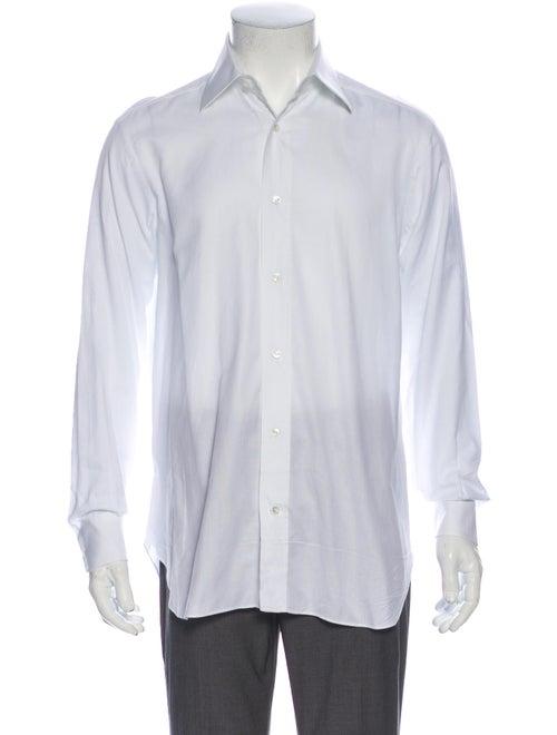 Brioni Long Sleeve Dress Shirt White