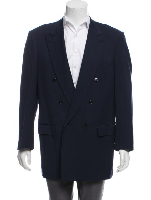 Brioni Double-Breasted Wool Blazer navy