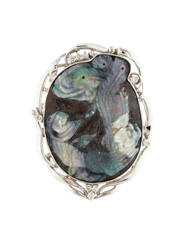 Diamond boulder opal pendant brooch brooches for Jewelry stores boulder co