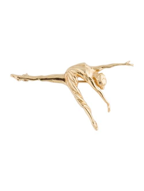 14K Ballerina Brooch yellow