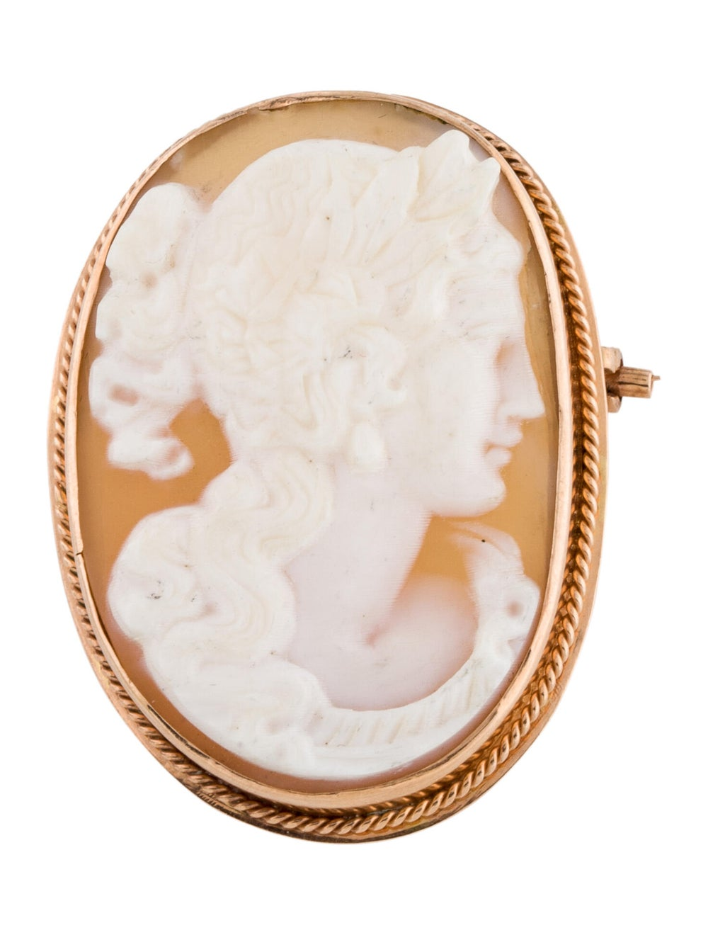 Brooch Shell Cameo Brooch rose - image 1