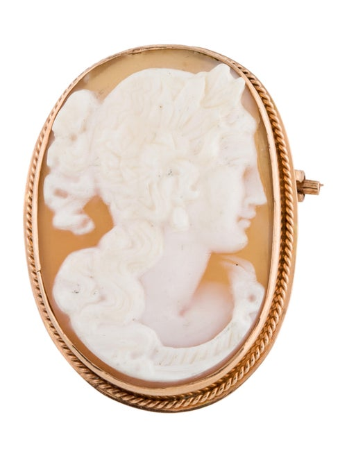 Brooch Shell Cameo Brooch rose