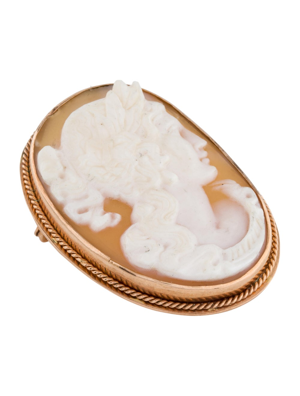 Brooch Shell Cameo Brooch rose - image 3