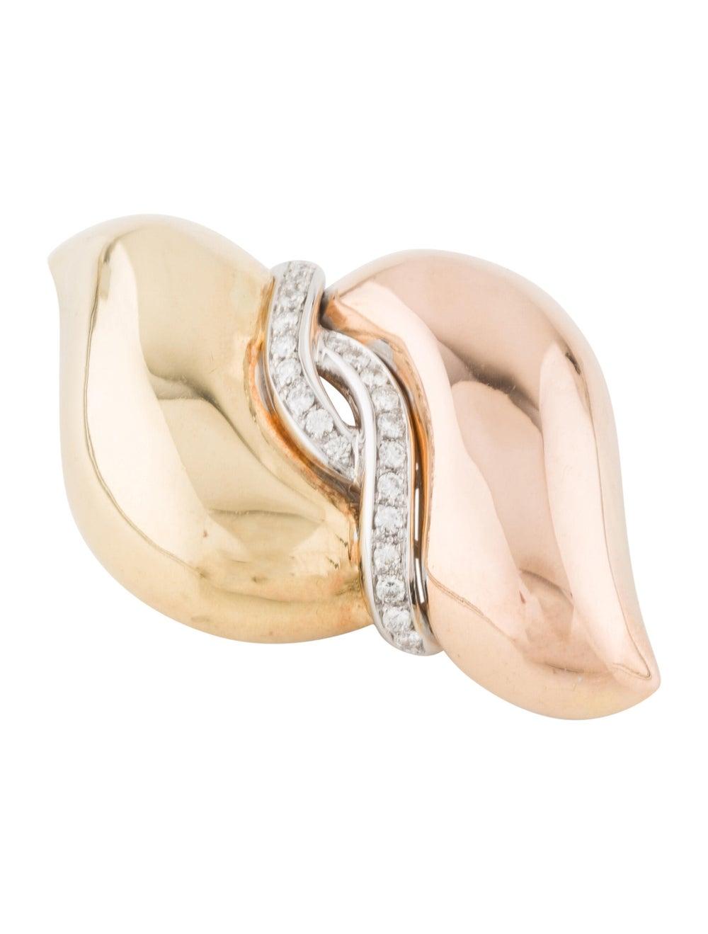 Brooch 18K Diamond Brooch Rose - image 3