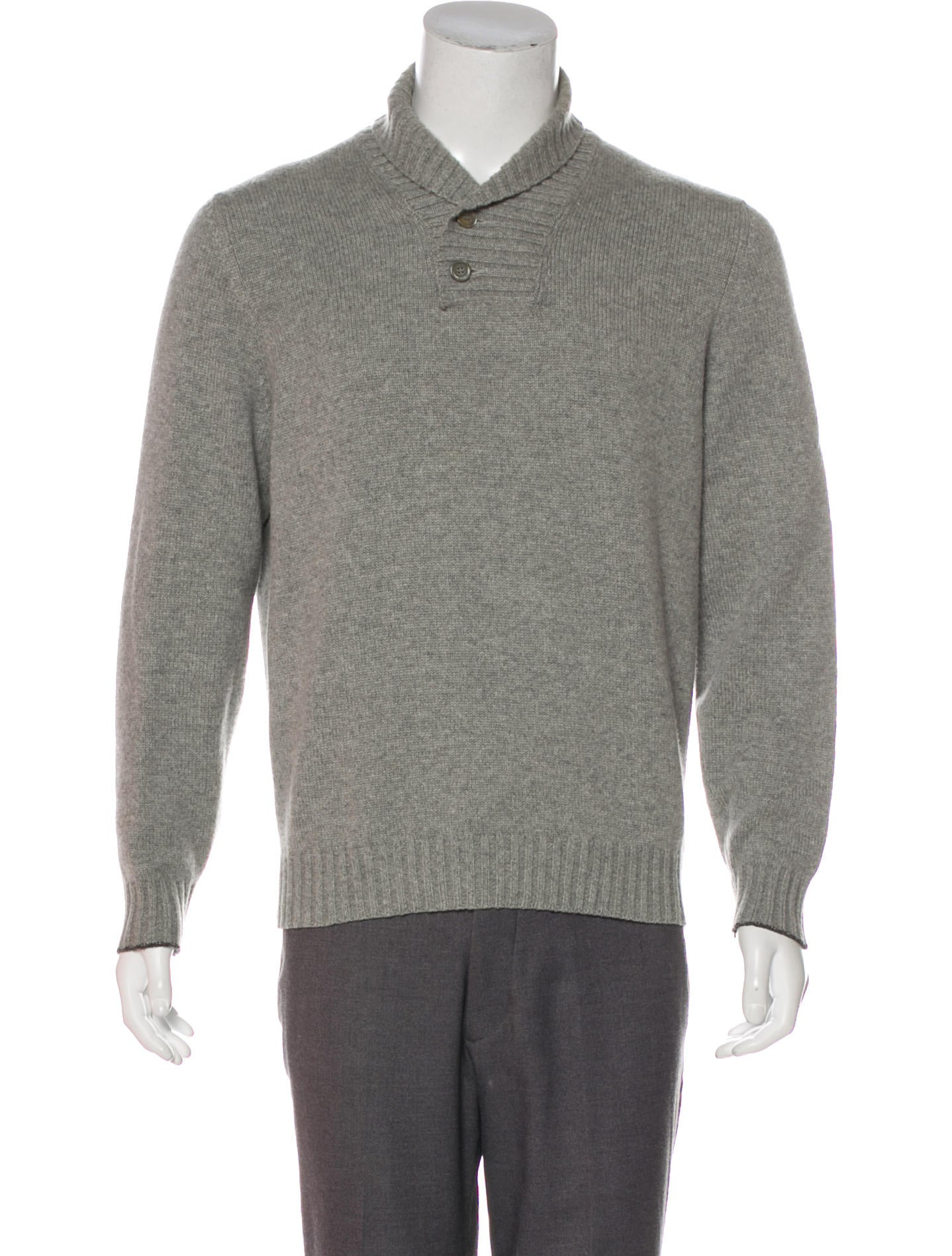 Brunello Cucinelli Cashmere Henley Sweater - Clothing -           BRU103801 | The RealReal