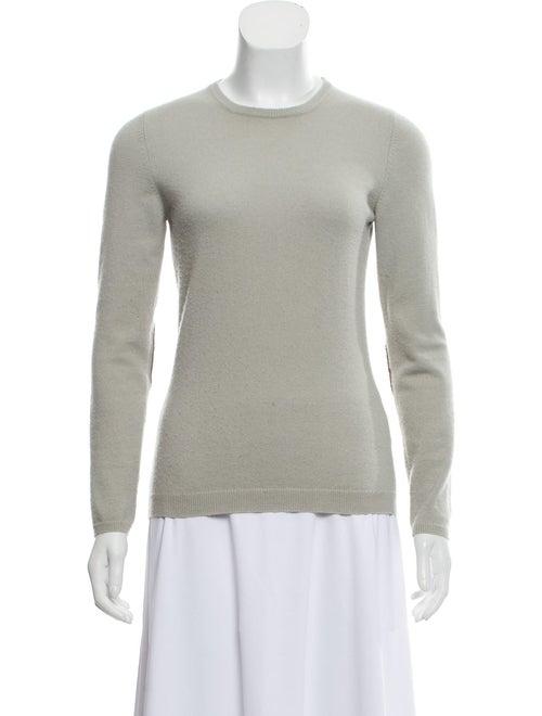 Brunello Cucinelli Suede-Trimmed Cashmere Sweater