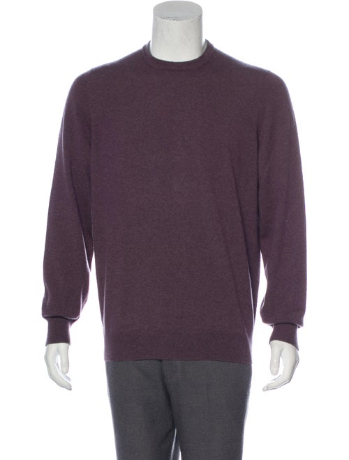 Brunello Cucinelli Suede-Accented Cashmere Sweater