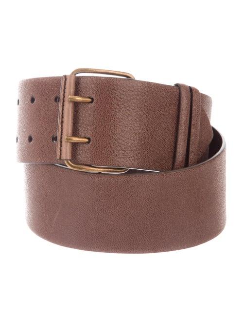 Brunello Cucinelli Leather Wide Belt brown