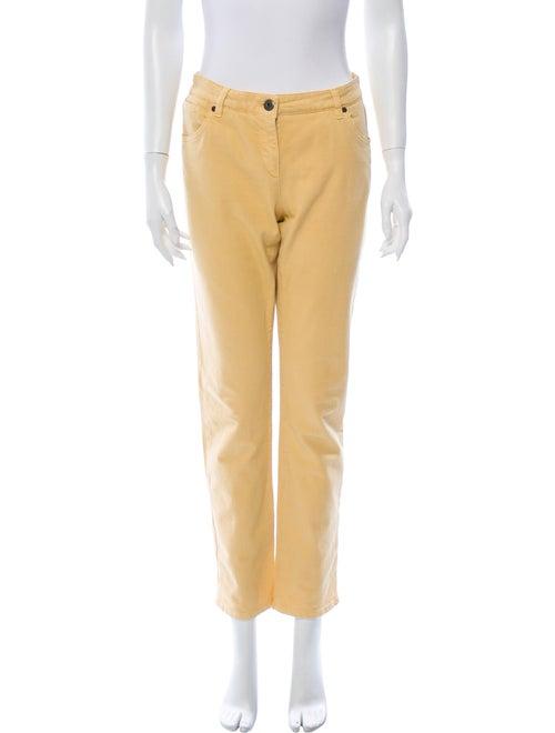 Brunello Cucinelli Mid-Rise Straight Leg Jeans Yel