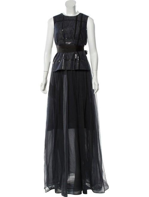 Brunello Cucinelli Denim Maxi Dress Set black