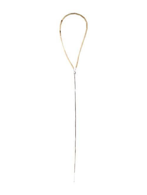Brunello Cucinelli Lavalier Bead Necklace Silver