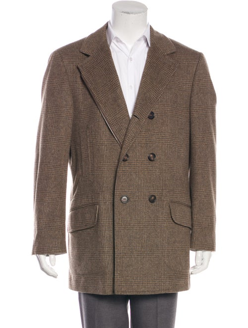 Brunello Cucinelli Double-Breasted Plaid Overcoat