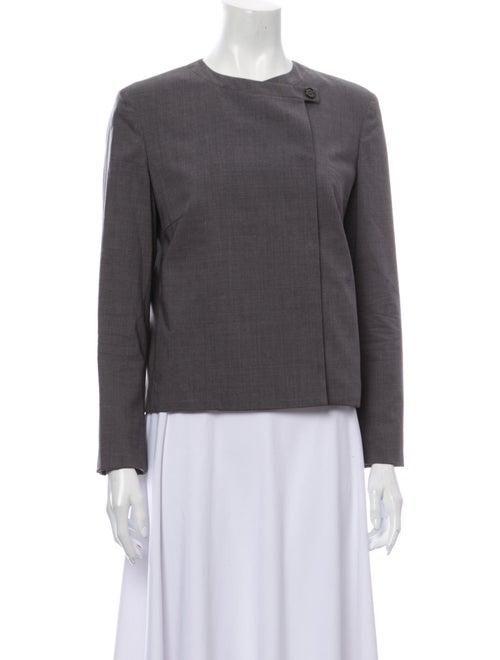 Brunello Cucinelli Silk Blazer Grey
