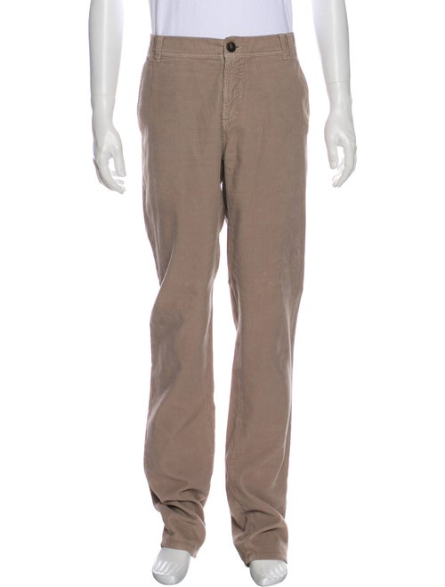 Brunello Cucinelli Flat Front Corduroy Pants khaki