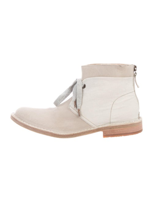 Brunello Cucinelli Leather Lace-Up Boots White