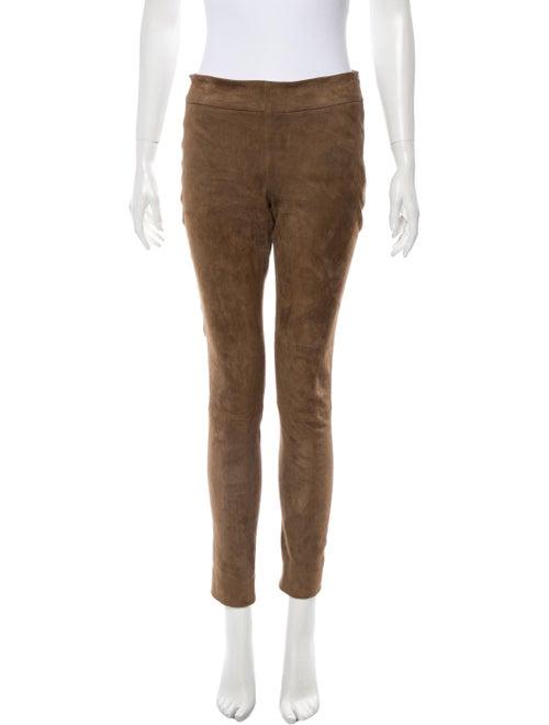 Brunello Cucinelli Leather Skinny Leg Pants