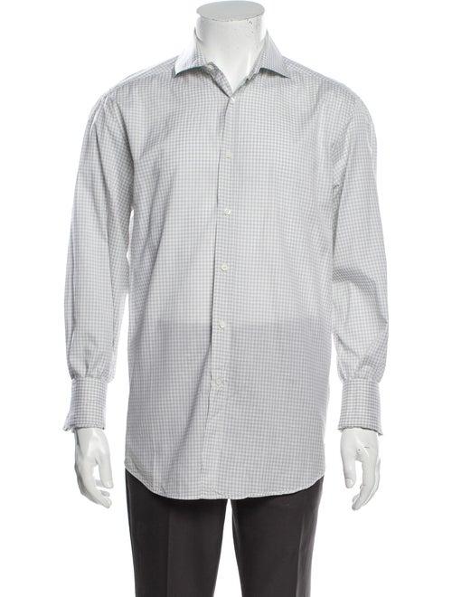 Brunello Cucinelli Plaid Print Long Sleeve Shirt