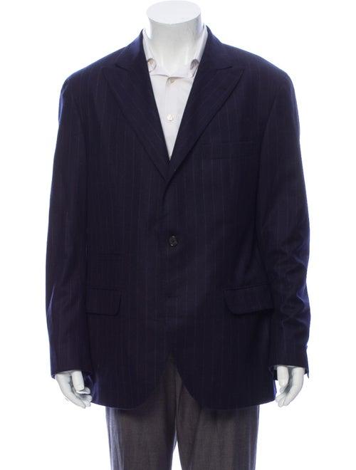 Brunello Cucinelli Wool Striped Blazer Wool