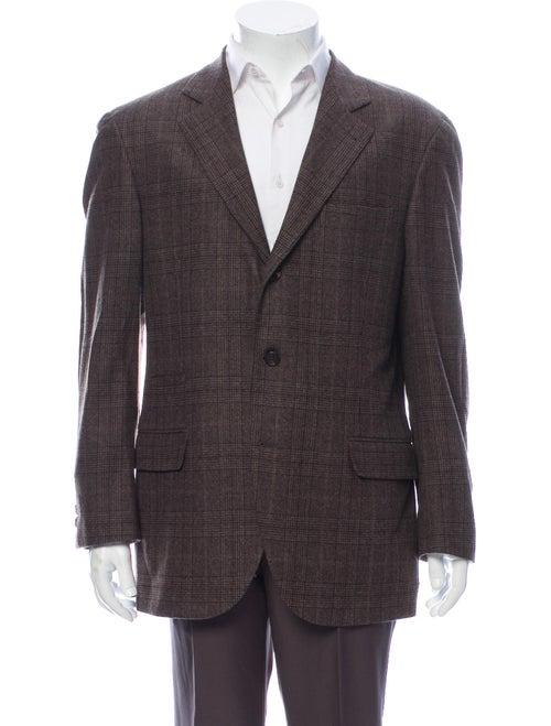 Brunello Cucinelli Wool Plaid Print Blazer Wool