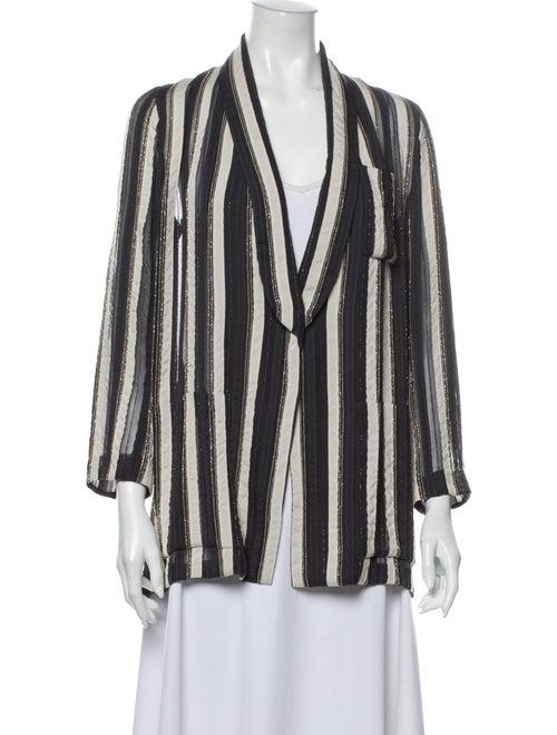 Brunello Cucinelli Striped Blazer Grey