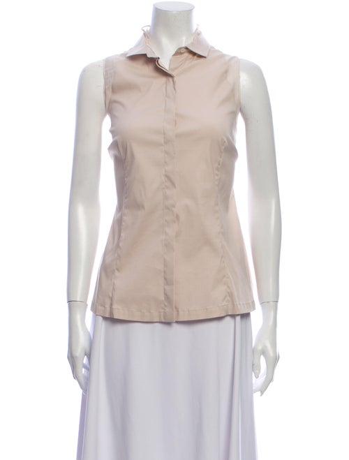 Brunello Cucinelli Sleeveless Button-Up Top