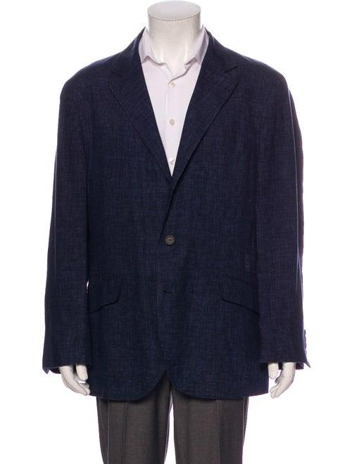 Brunello Cucinelli Linen Blazer Blue