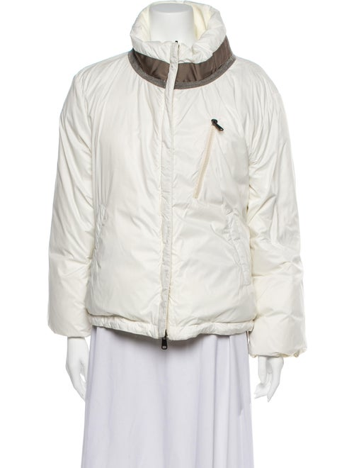Brunello Cucinelli Leather Jacket w/ Tags White