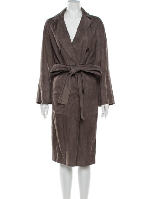 Brunello Cucinelli Leather Trench Coat w/ Tags