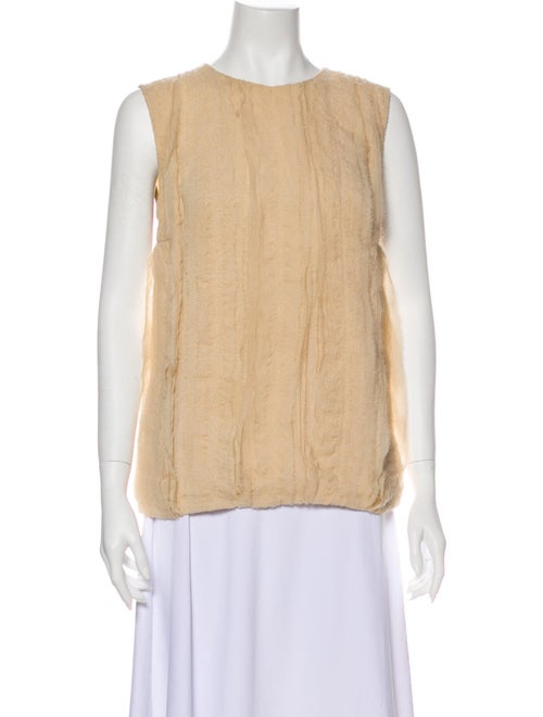 Brunello Cucinelli Silk Crew Neck Top - image 1