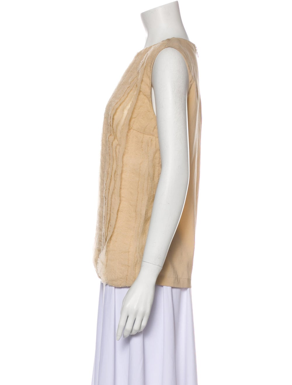 Brunello Cucinelli Silk Crew Neck Top - image 2