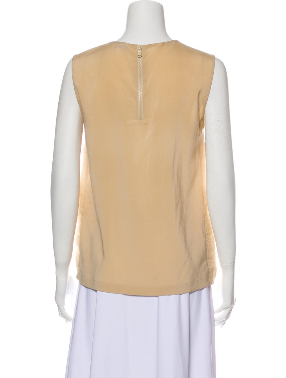 Brunello Cucinelli Silk Crew Neck Top - image 3