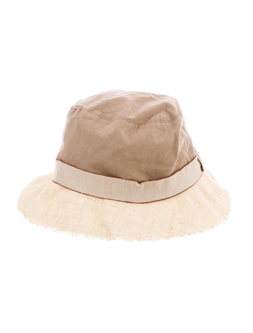 Brunello Cucinelli Two-Tone Wide Brim Hat Tan - image 1