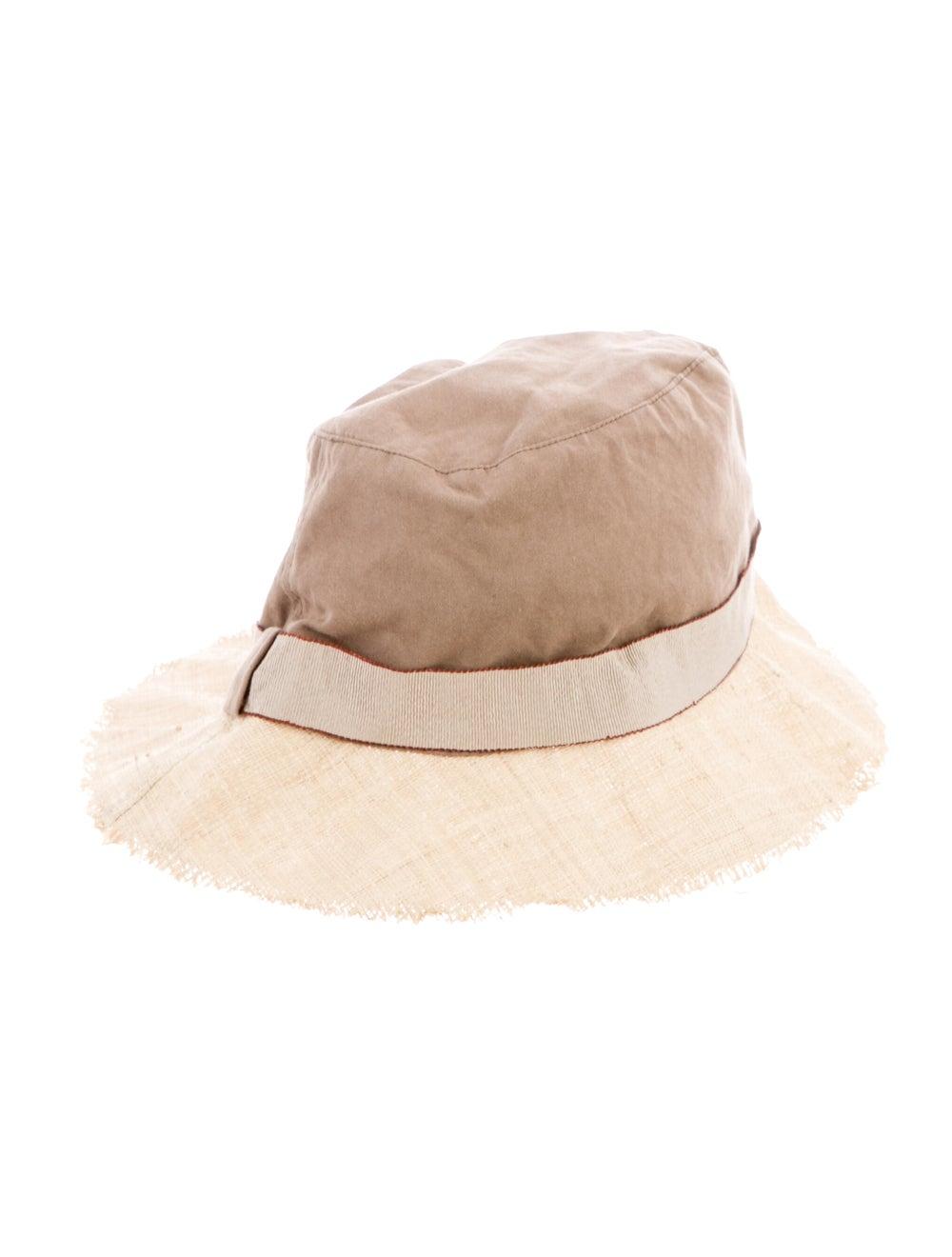 Brunello Cucinelli Two-Tone Wide Brim Hat Tan - image 2