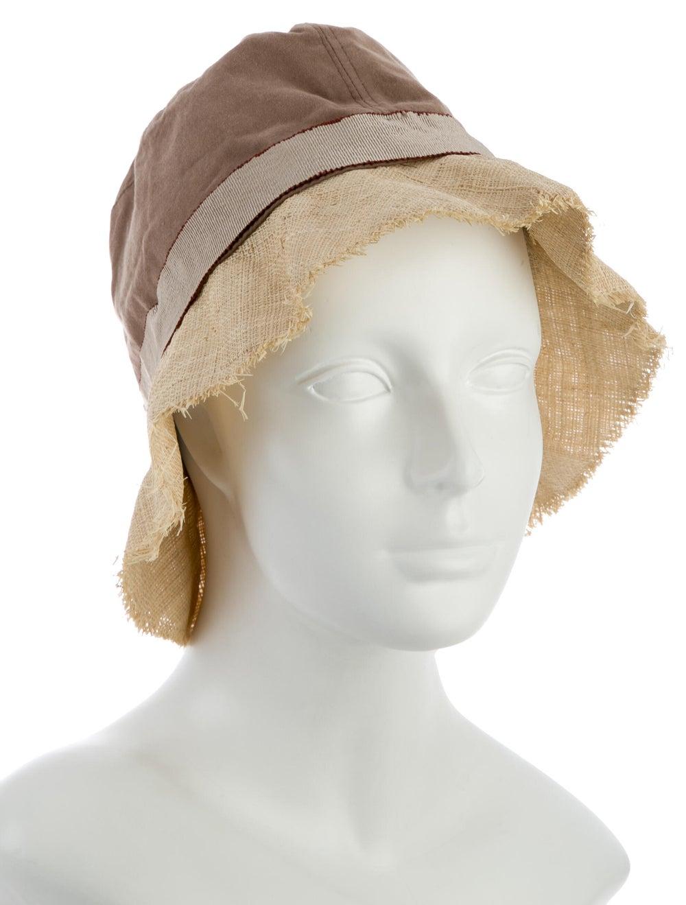 Brunello Cucinelli Two-Tone Wide Brim Hat Tan - image 3