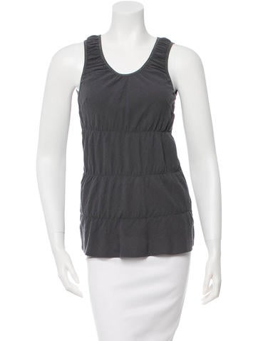 Brunello Cucinelli Ruched Sleeveless Top None
