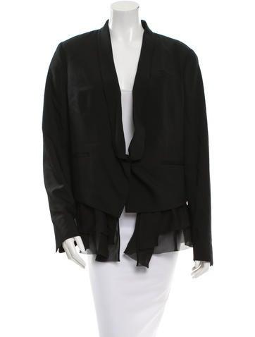 Brunello Cucinelli Silk Single-Button Blazer w/ Tags None