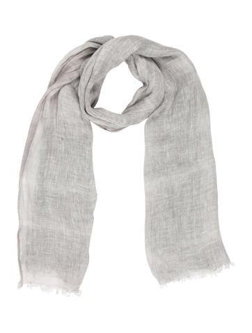 Linen Frayed Scarf