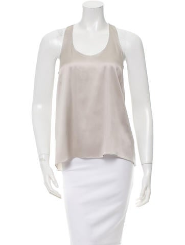 Brunello Cucinelli Silk Scoop Neck Top None