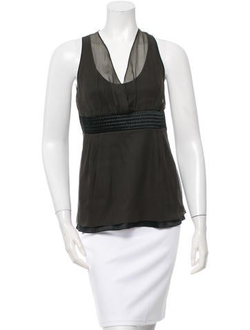 Brunello Cucinelli Silk Sleeveless Top w/ Tags None