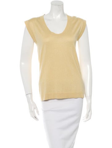 Brunello Cucinelli Sleeveless Scoop Neck Top w/ Tags None