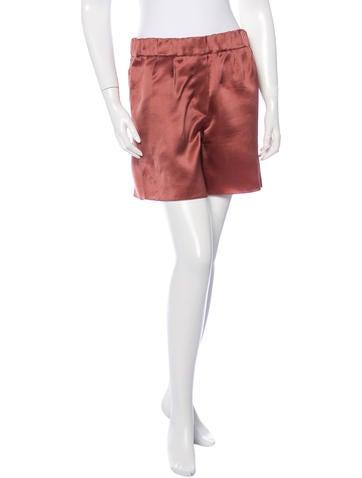 Brunello Cucinelli Silk Mini Shorts