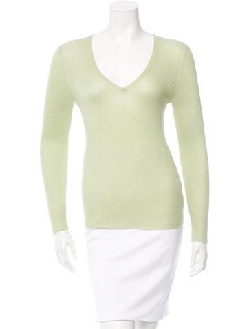 Brunello Cucinelli Cashmere Silk-Blend V-neck Knit None