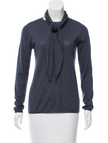 Brunello Cucinelli Cashmere & Silk-Blend Embellished Sweater None