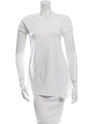 Brunello Cucinelli Asymmetrical Short Sleeve Top None