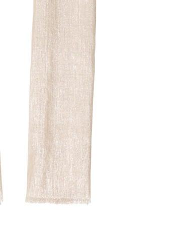 Cashmere-Silk Blend Metallic Scarf