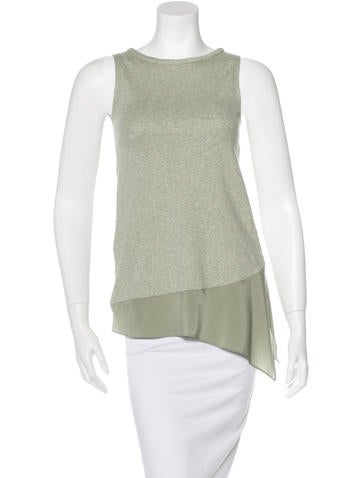 Brunello Cucinelli Sleeveless Asymmetrical Top None