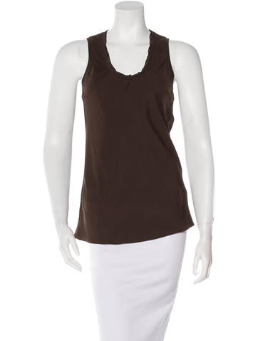 Brunello Cucinelli V-Neck Silk Top None