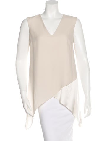 Brunello Cucinelli Silk Asymmetrical Top None