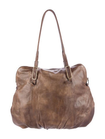 Soft Leather Zip Tote