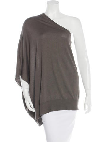Brunello Cucinelli Cashmere One-Shoulder Top None
